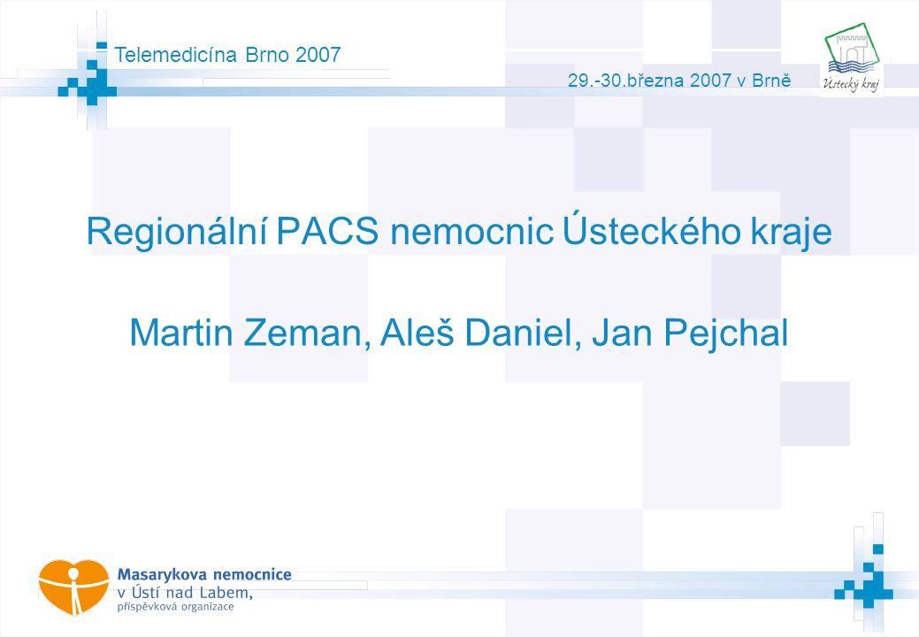 1 © AGIT AB Telemedicína Brno 2007 29.-30.března 2007 v Brně Regionální PACS nemocnic Ústeckého kraje Martin Zeman, Aleš Daniel, Jan Pejchal