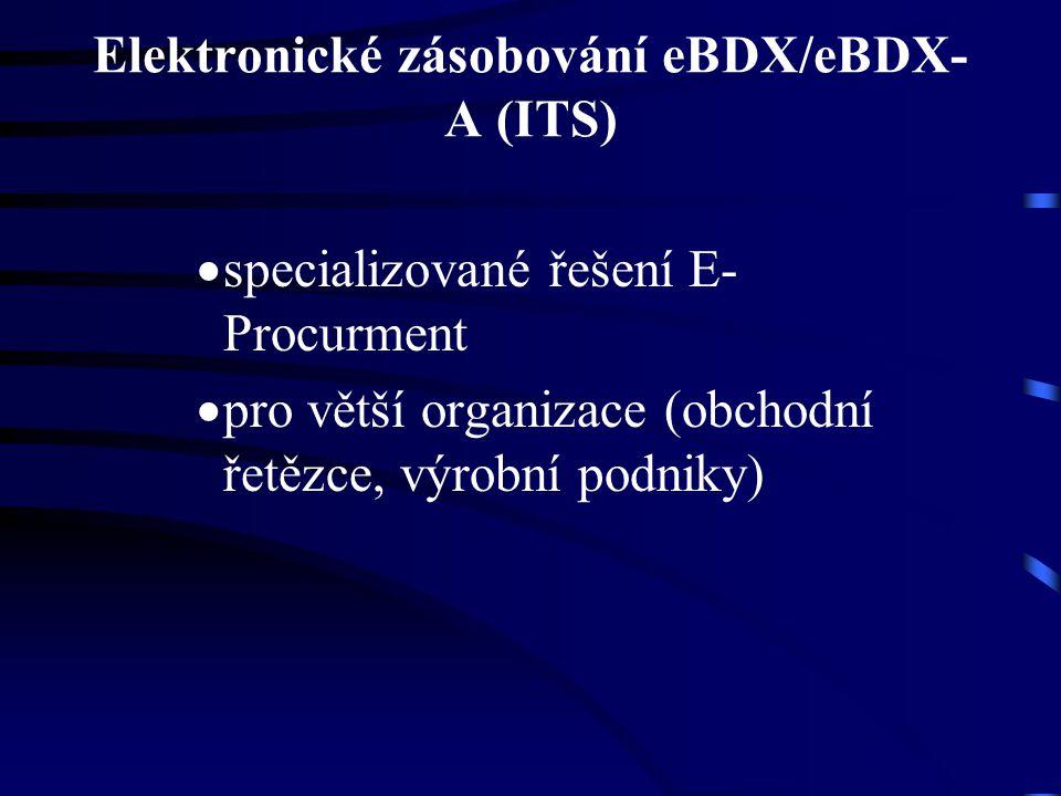 Elektronické zásobování eBDX/eBDX- A (ITS)  specializované řešení E- Procurment  pro větší organizace (obchodní řetězce, výrobní podniky)