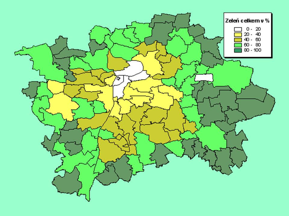 LESY Tvoří přibližně 9 % výměry hlavního města Prahy (4880 ha).