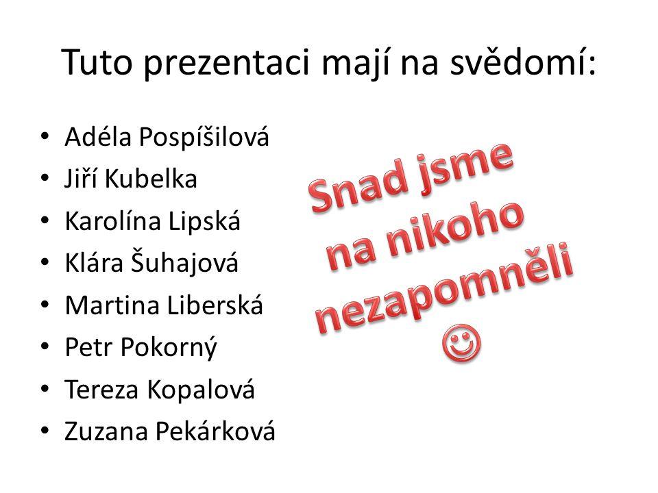 Zdroje Občanská výchova 8 – učebnice www.wikipedia.cz www.business.center.cz Naše hlavy Obrázky na – www.google.cz