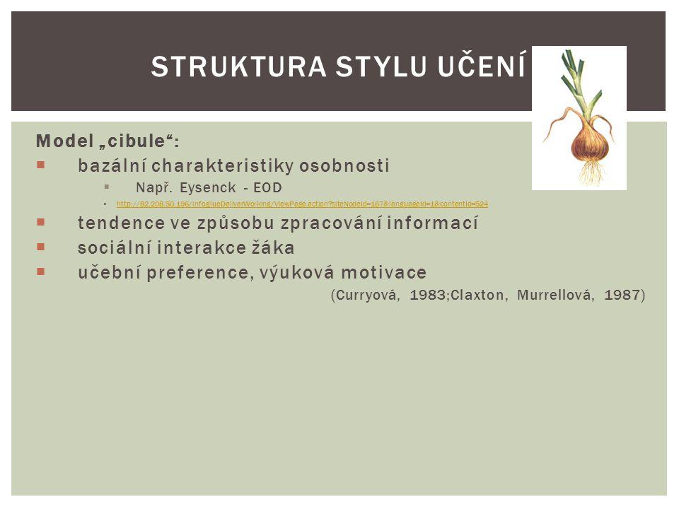 """Model """"cibule"""":  bazální charakteristiky osobnosti  Např. Eysenck - EOD  http://82.208.50.196/infoglueDeliverWorking/ViewPage.action?siteNodeId=167"""