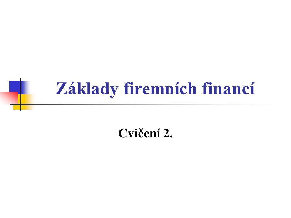 Základy firemních financí Cvičení 2.