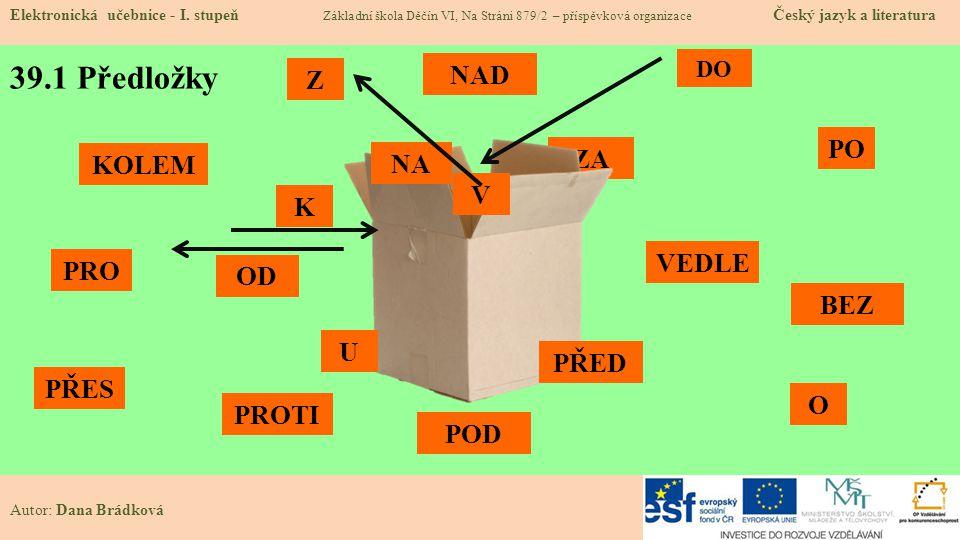ZA 39.1 Předložky Elektronická učebnice - I.