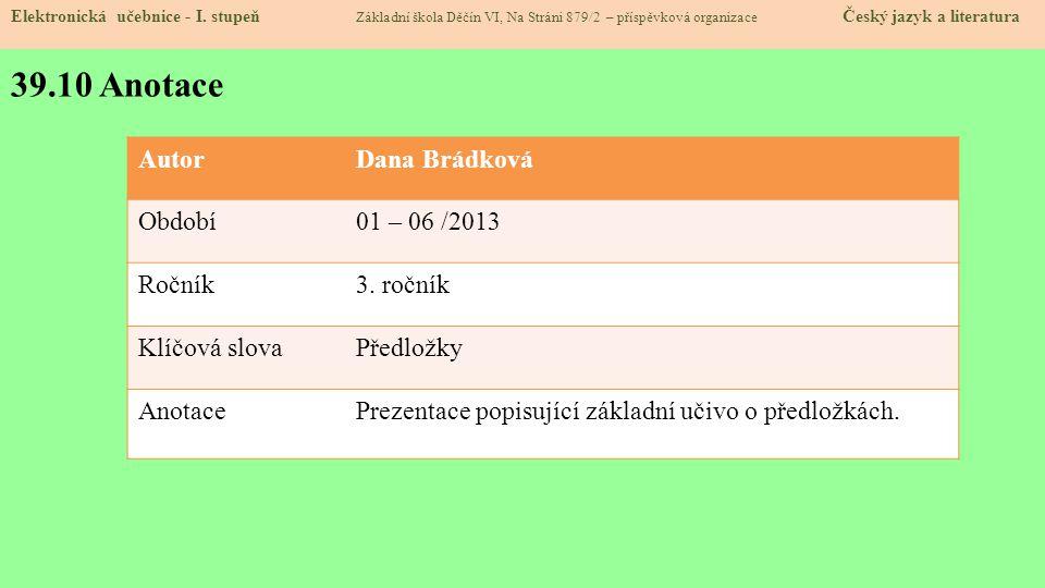 39.10 Anotace Elektronická učebnice - I.
