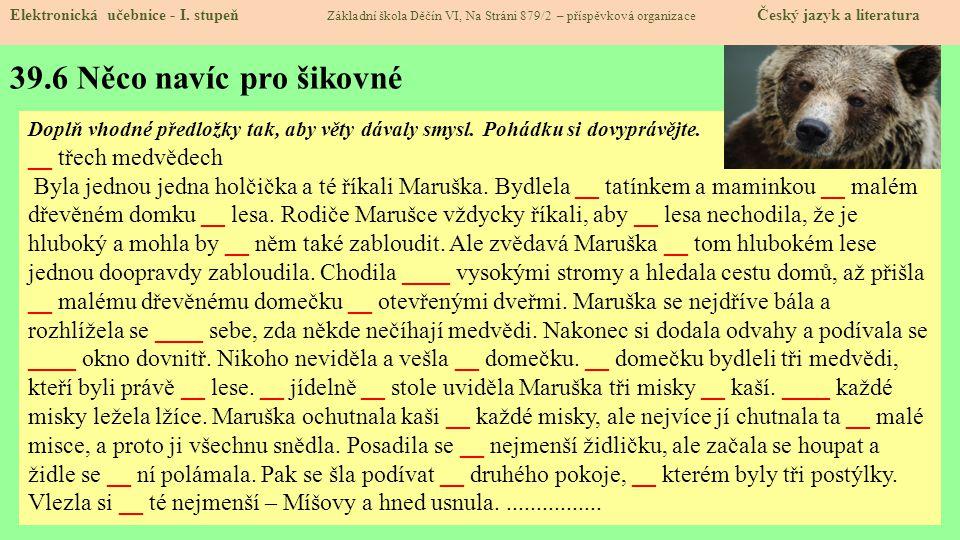 39.6 Něco navíc pro šikovné Elektronická učebnice - I.