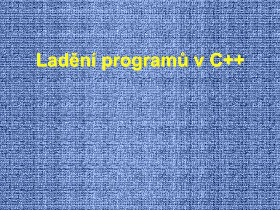 Ladění programů v C++