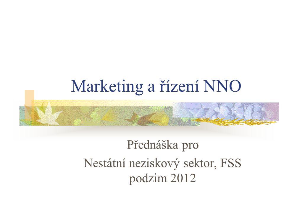 Marketing a řízení NNO Přednáška pro Nestátní neziskový sektor, FSS podzim 2012