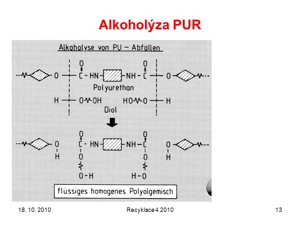 Alkoholýza PUR Recyklace 4 20101318. 10. 2010