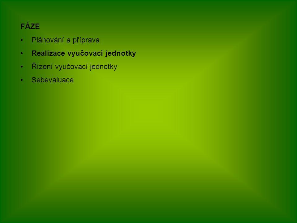 TYPY OTÁZEK UZAVŘENÉ OTEVŘENÉ Se širokou odpovědí Se stručnou odpovědí Nestrukturované Strukturované Produkční Doplňovací Dichotomické S výběrem odpovědi Přiřazovací Uspořádací Charakterizuj prokaryotní organismus Jaký je význam sinic a kde se vyskytují Jmenujte zástupce sinic … je buňka schopna vázat vzdušný dusík.