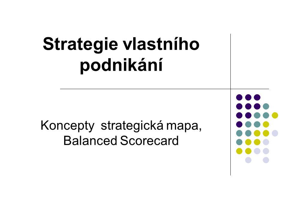 Strategie vlastního podnikání Koncepty strategická mapa, Balanced Scorecard