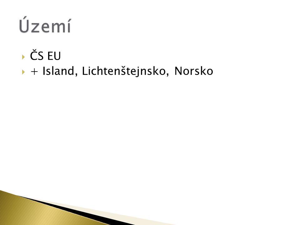  ČS EU  + Island, Lichtenštejnsko, Norsko