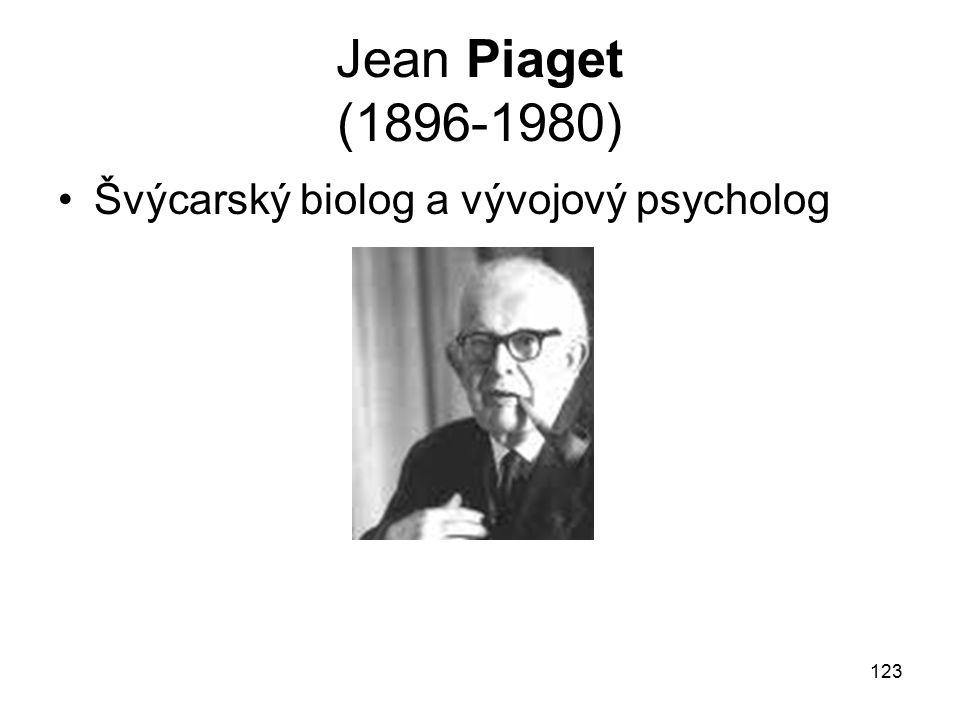 123 Jean Piaget (1896-1980) Švýcarský biolog a vývojový psycholog