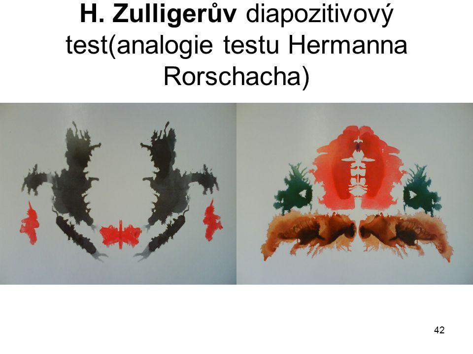 42 H. Zulligerův diapozitivový test(analogie testu Hermanna Rorschacha)