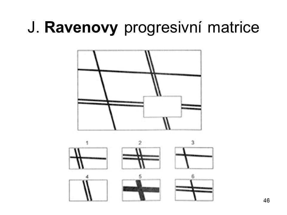 46 J. Ravenovy progresivní matrice