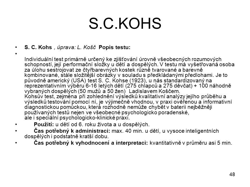 48 S.C.KOHS S.C. Kohs, úprava: L.