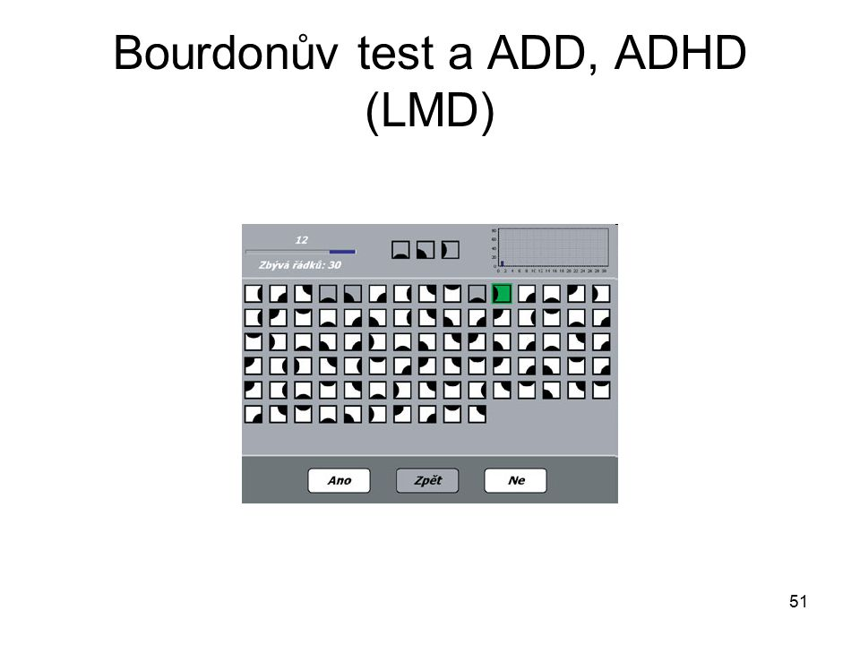 51 Bourdonův test a ADD, ADHD (LMD)