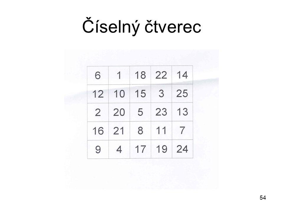 54 Číselný čtverec