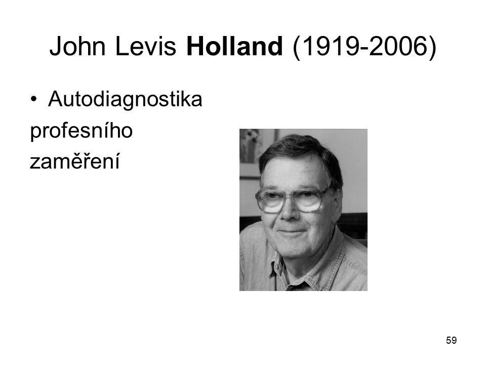 59 John Levis Holland (1919-2006) Autodiagnostika profesního zaměření
