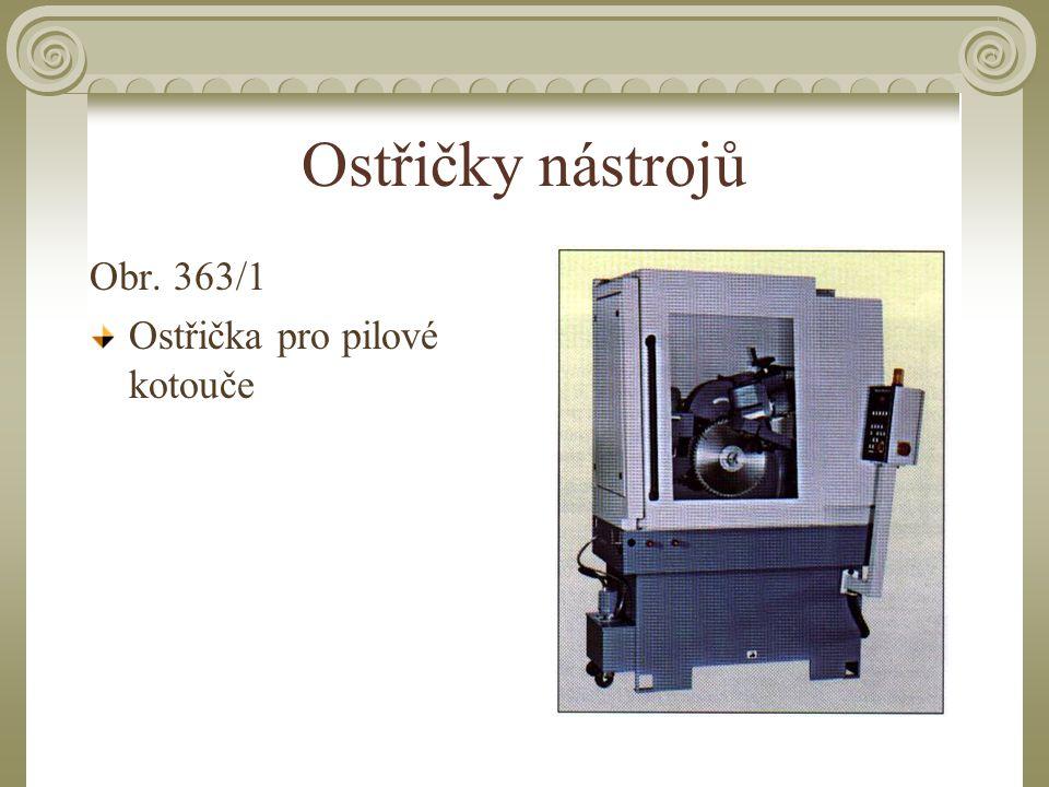 Ostřičky nástrojů Obr. 363/1 Ostřička pro pilové kotouče