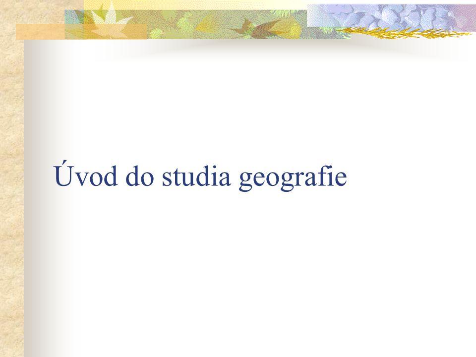 Geografie je založena na schopnosti geograficky myslet – tj.