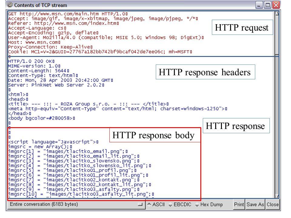13 HTTP request HTTP response HTTP response body HTTP response headers