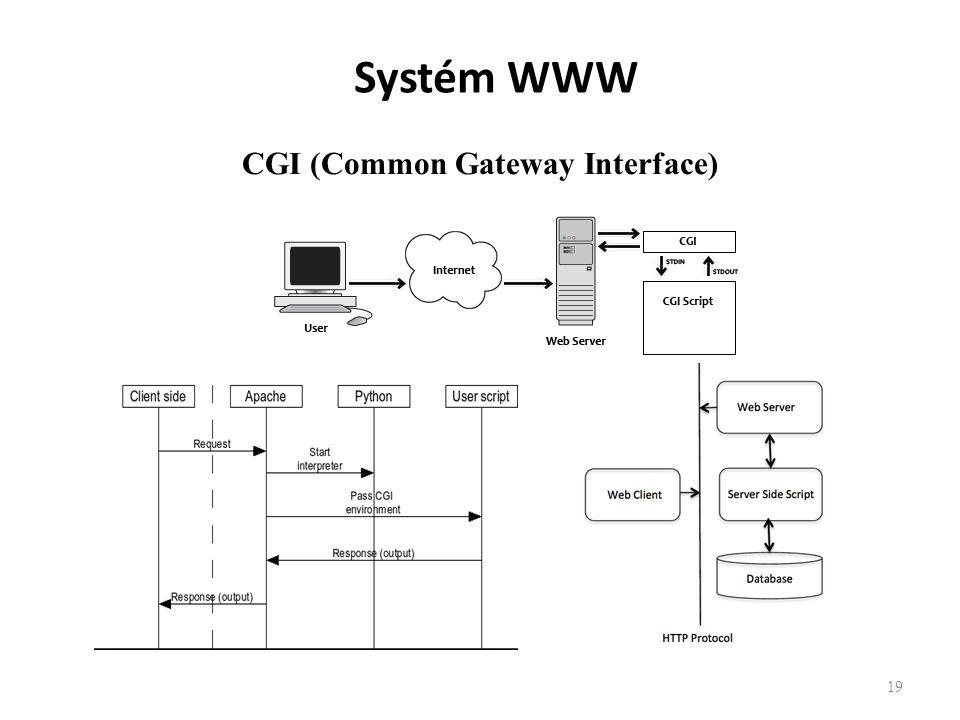 19 CGI Architecture Diagram Systém WWW CGI (Common Gateway Interface)