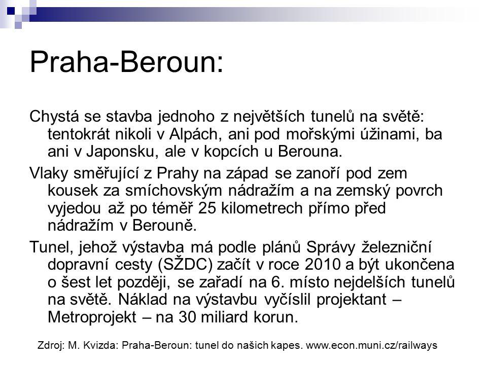 Praha-Beroun: Chystá se stavba jednoho z největších tunelů na světě: tentokrát nikoli v Alpách, ani pod mořskými úžinami, ba ani v Japonsku, ale v kopcích u Berouna.