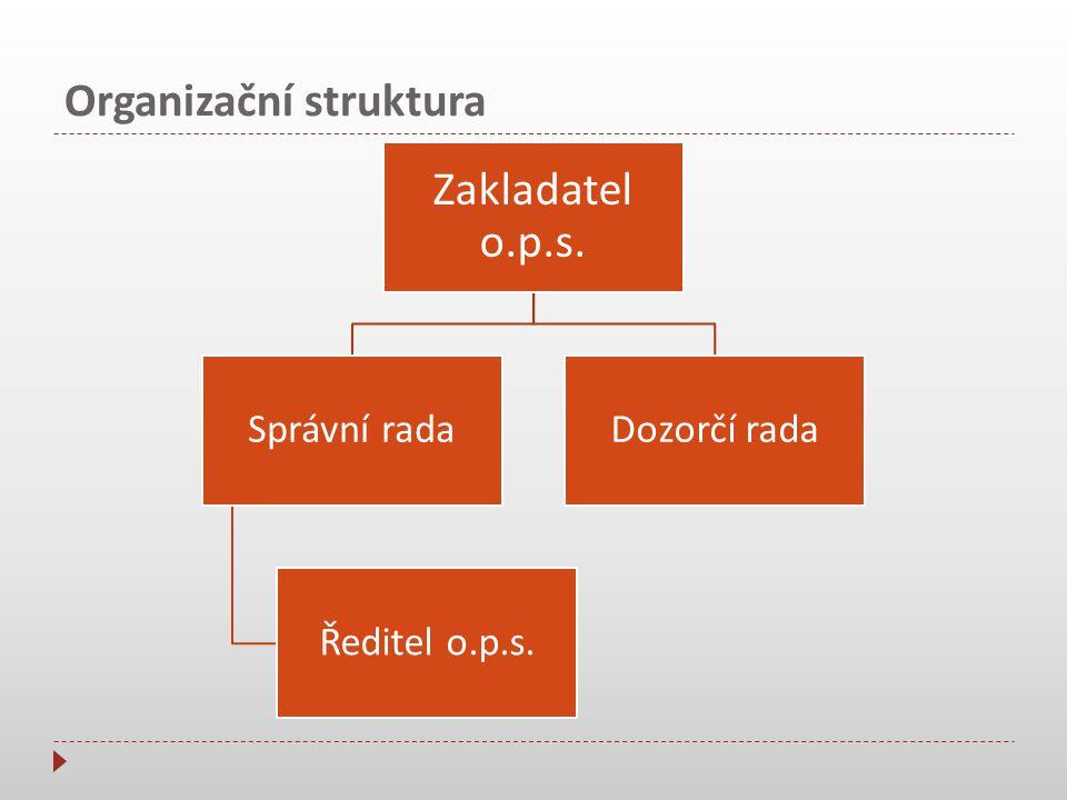Organizační struktura Ředitel o.p.s.
