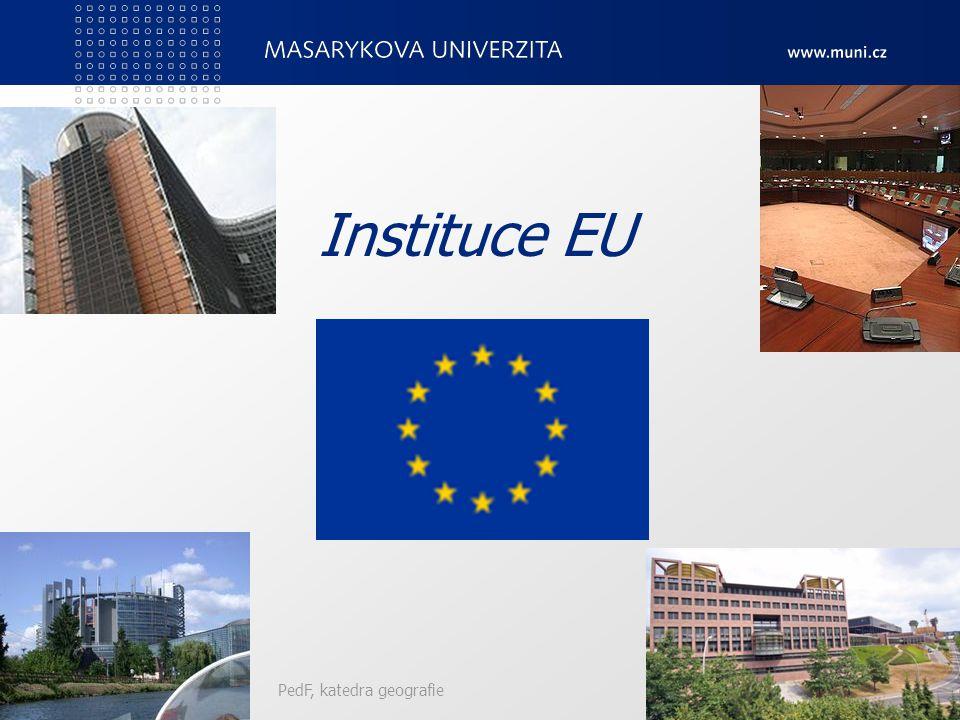 Instituce EU PedF, katedra geografie