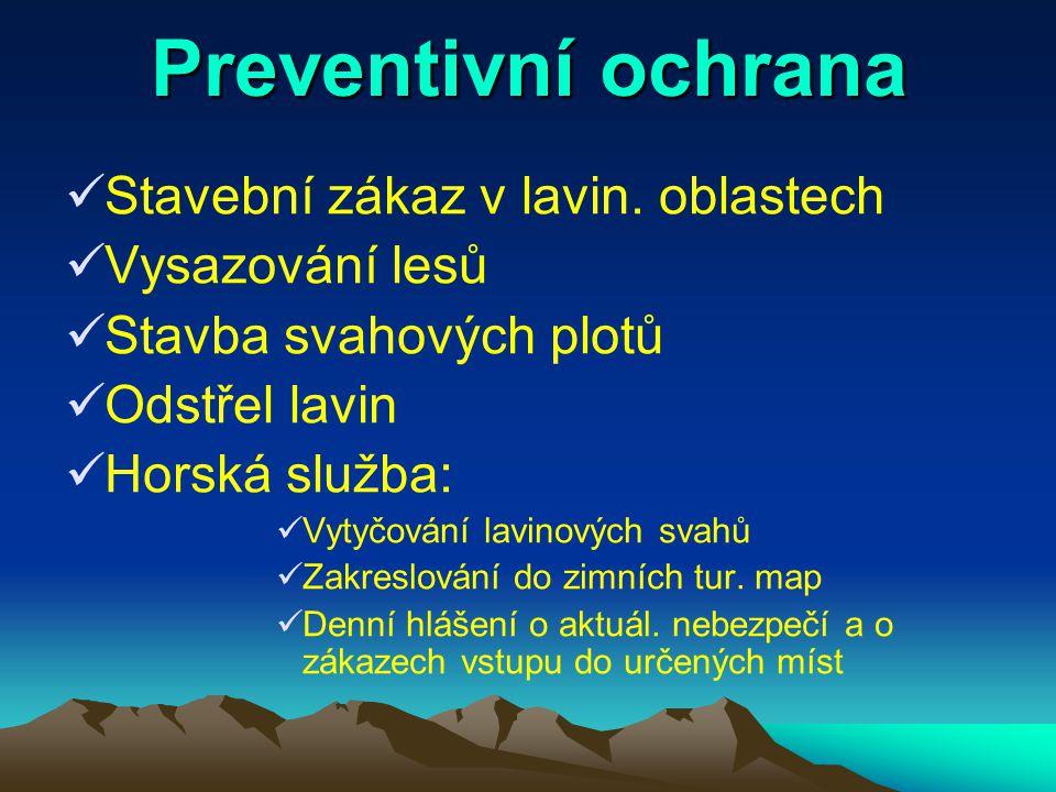 Pomoc v horách Lavinové vyhledávače Lavinové sondy Lavinová lopatka Horská služba