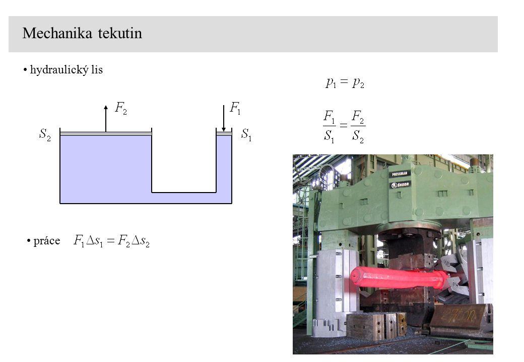 Archimédův zákon objemové síly plošné síly rovnováha kapalina v tíhovém poli při konstantní hustotě