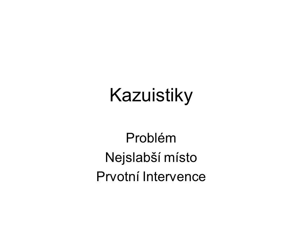 Kazuistiky Problém Nejslabší místo Prvotní Intervence