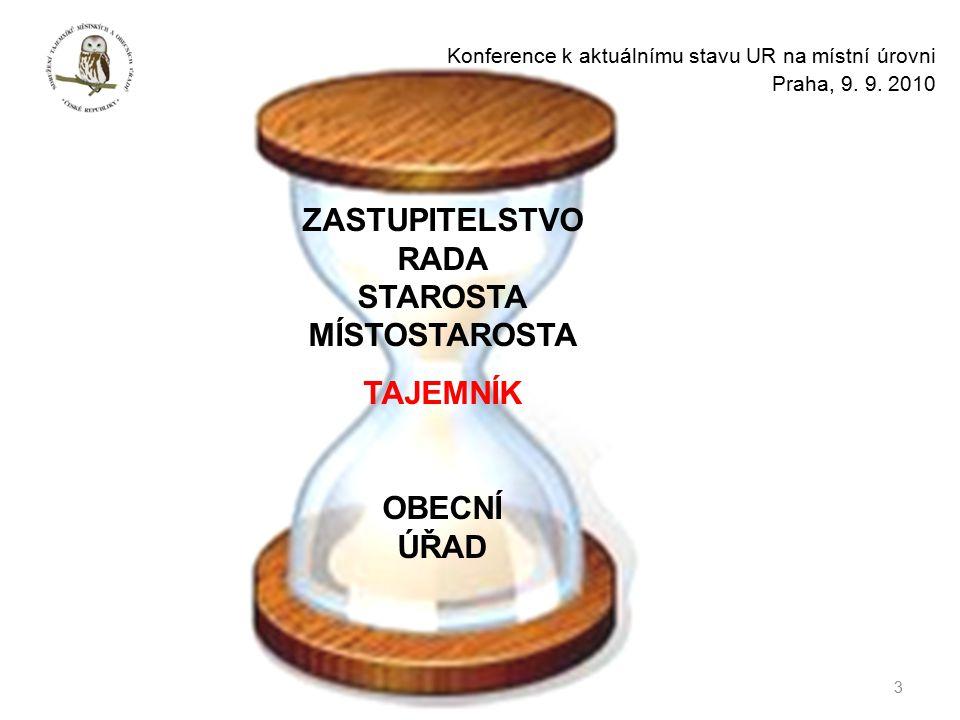 3 Konference k aktuálnímu stavu UR na místní úrovni Praha, 9.