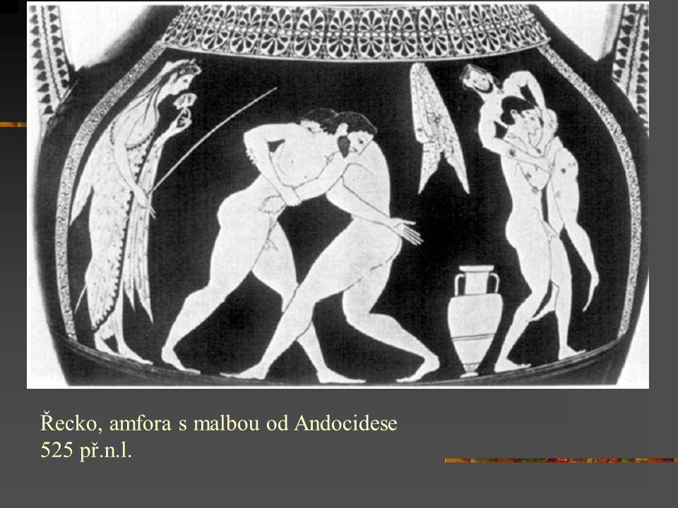 Řecko, amfora s malbou od Andocidese 525 př.n.l.