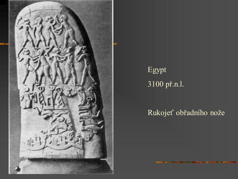 Egypt 3100 př.n.l. Rukojeť obřadního nože