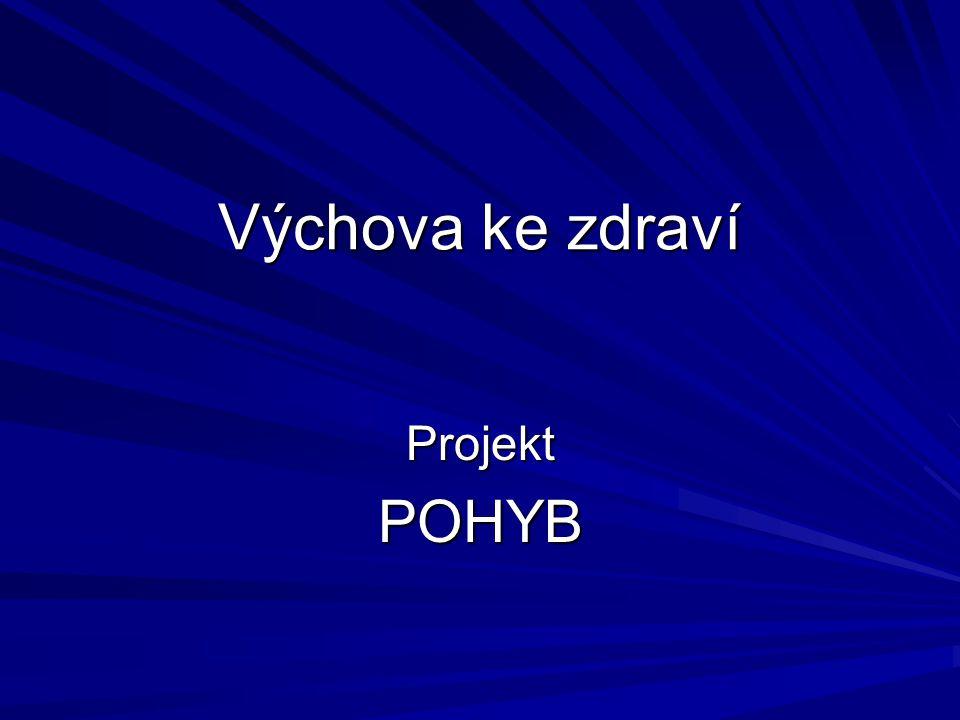 Výchova ke zdraví ProjektPOHYB