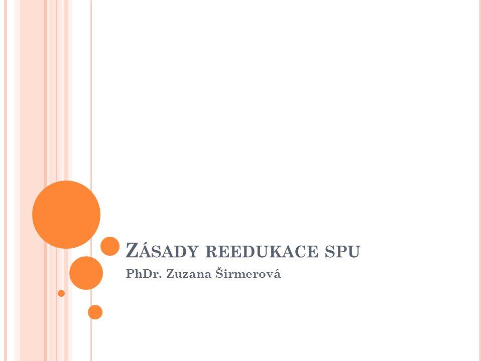 Z ÁSADY REEDUKACE SPU PhDr. Zuzana Širmerová