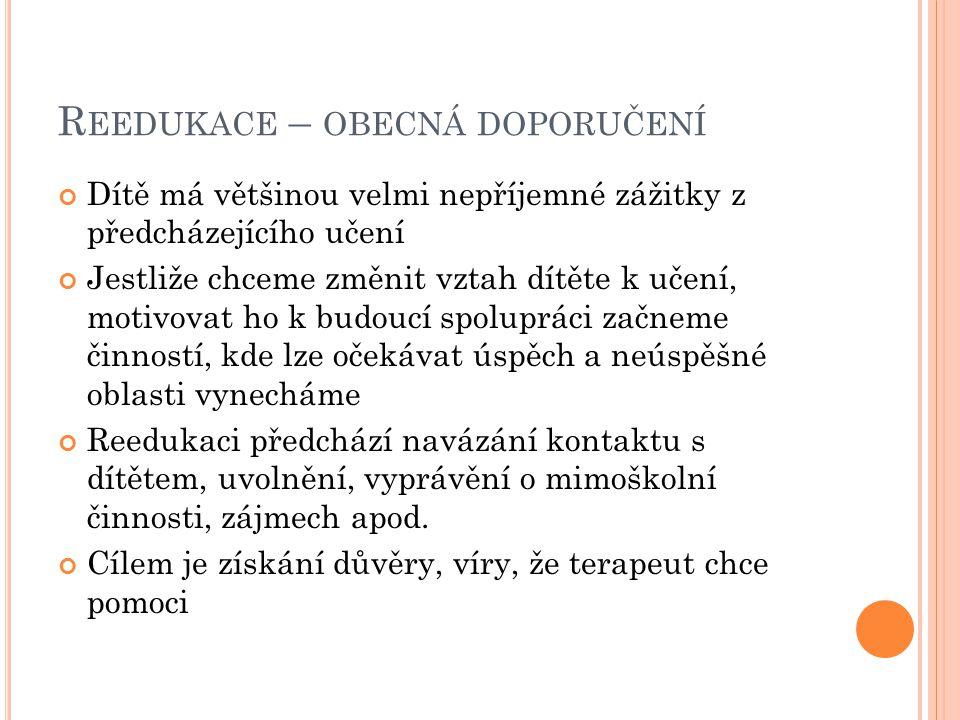 Z ÁKLADNÍ TECHNIKY REEDUKACE DYSLEXIE Metoda obtahování.