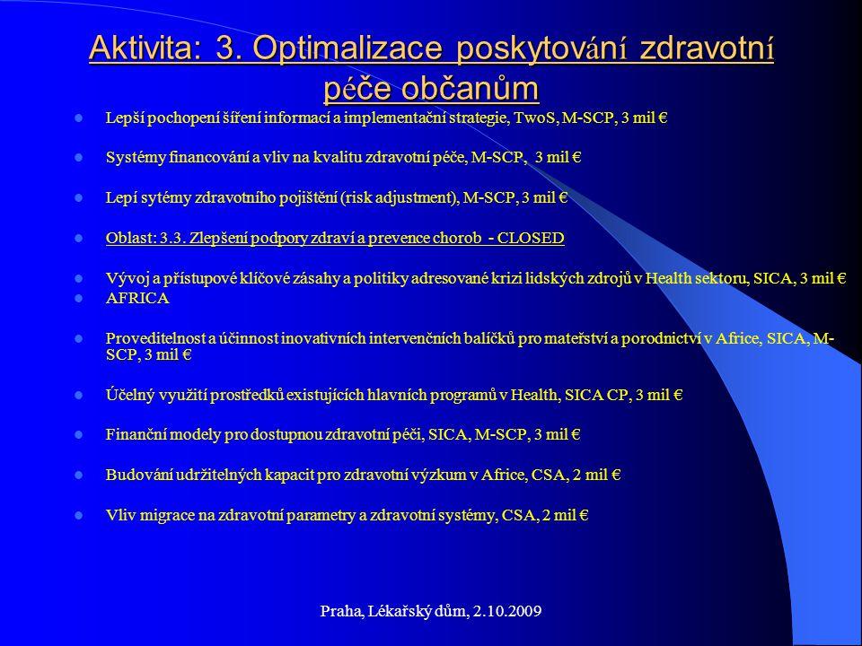 Praha, Lékařský dům, 2.10.2009 Aktivita: 3.
