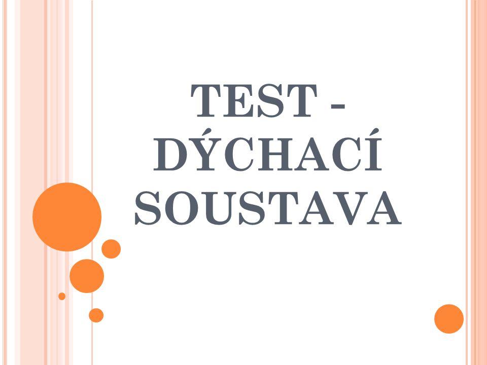 TEST - DÝCHACÍ SOUSTAVA