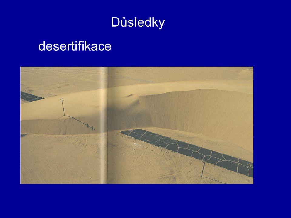 Důsledky desertifikace