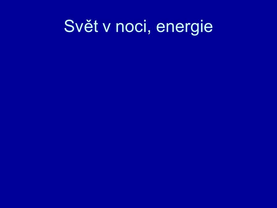 Svět v noci, energie