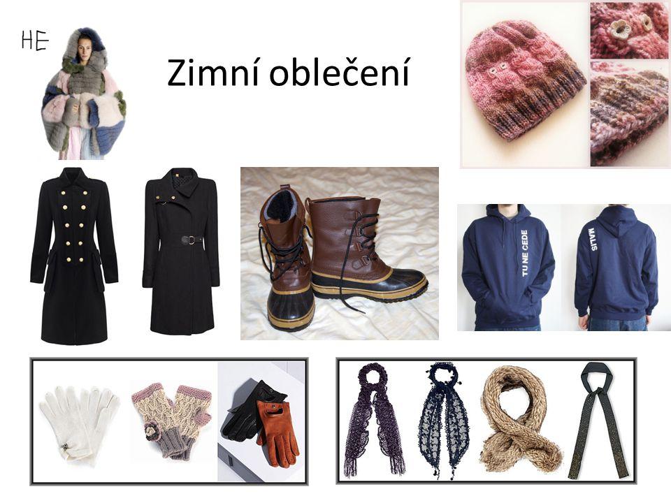 Zakroužkuj, co si oblékneš v zimě