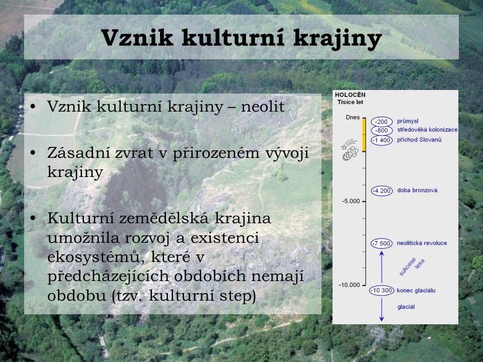 Historický vývoj české kulturní krajiny Neolitické zemědělství (6-7 tis.