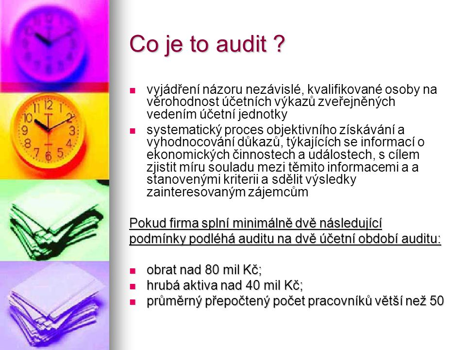 Co je to audit .