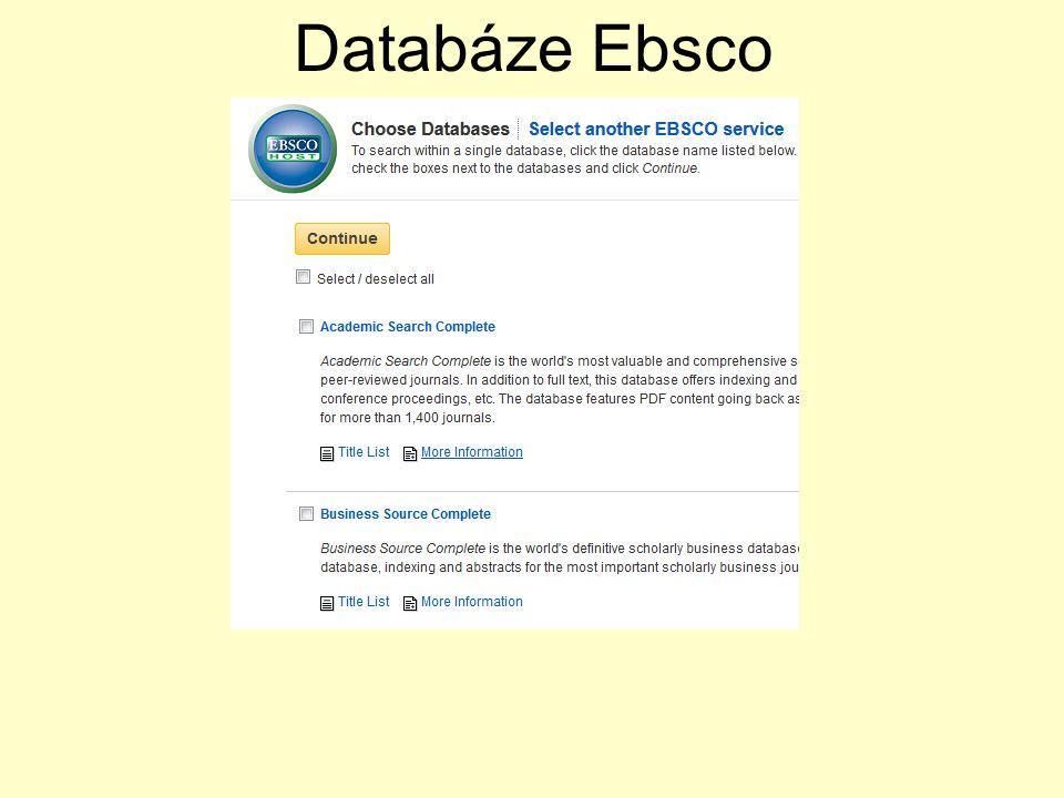 Databáze Ebsco