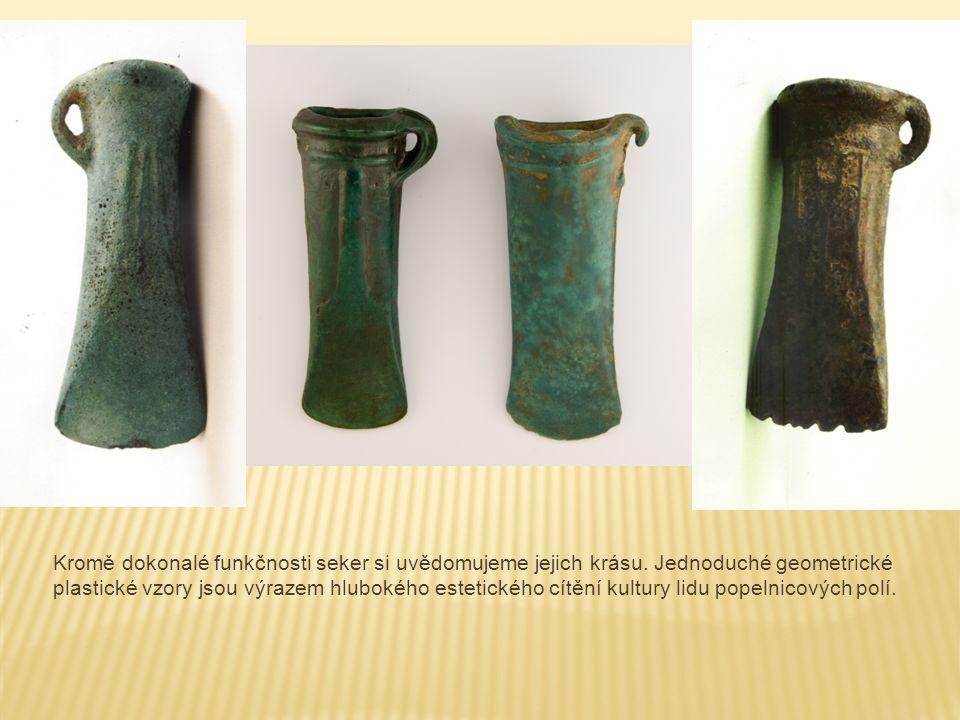 Srpy jsou další z běžných a důležitých tvarů designu mladého pravěku.