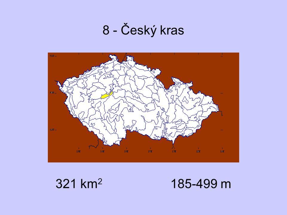 8 - Český kras 321 km 2 185-499 m