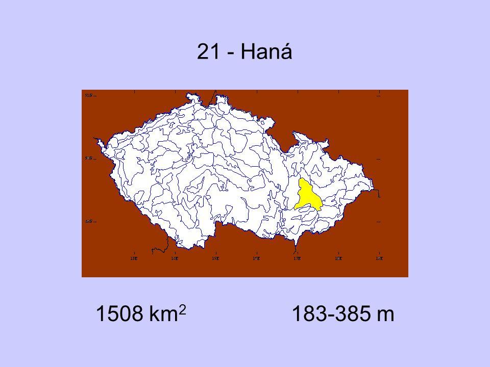 21 - Haná 1508 km 2 183-385 m