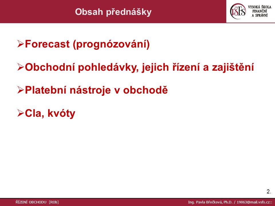 2.2. ŘÍZENÍ OBCHODU [ROb] Ing. Pavla Břečková, Ph.D.
